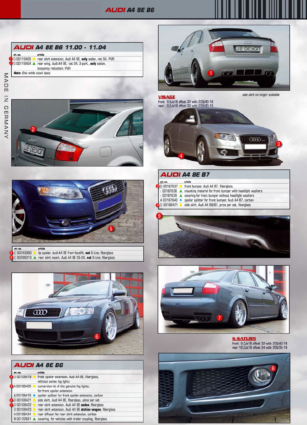 Audi a4 b7 Body Kit Audi a4 8e b6 Rei Body