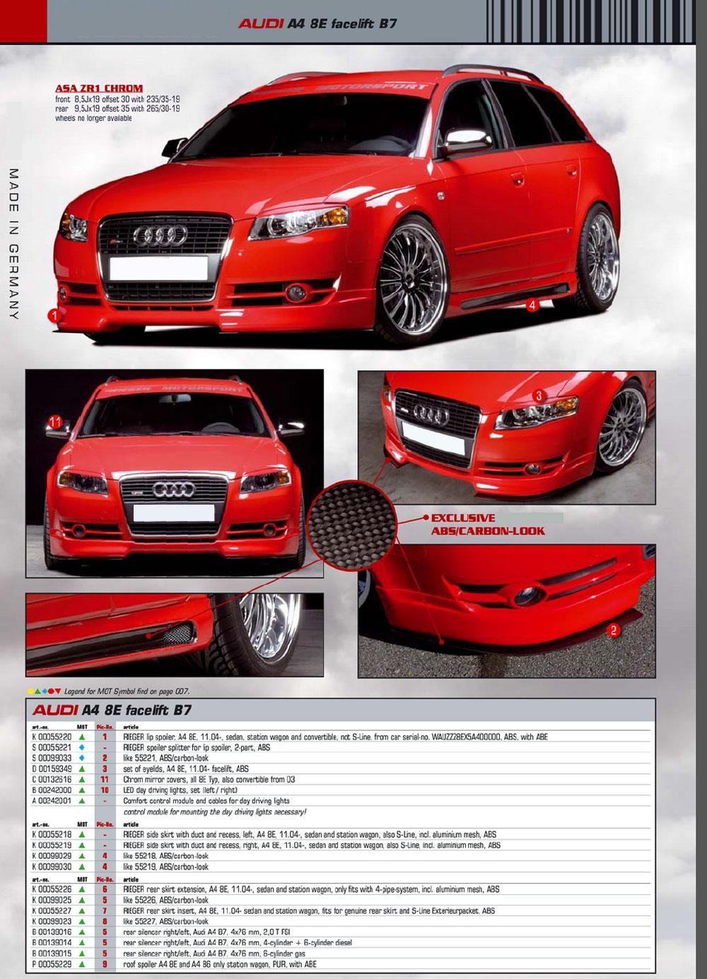 Audi a4 b7 Body Kit Audi a4 8e b7 Rei Body